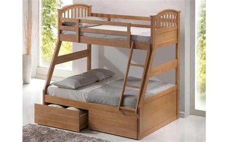 Their 100% foam bunk bed mattress feels like sleeping on a cloud. Three Sleeper Wooden Bunk Bed - Mattress Online