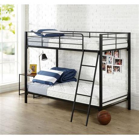 The bottom bed has a 350 pound weight limit, while the top bunk is limited to 175 pounds. Slumber 1 Youth - 6'' Bunk Bed Mattress with Moisture ...