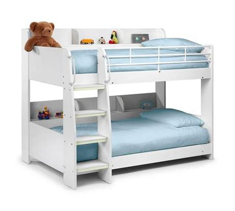 Available in black, white, and silver, this hannatou bed will certainly add functionality while saving space! Happy Beds Domino Sleep Station Maple & White Bunk Bed 2x ...
