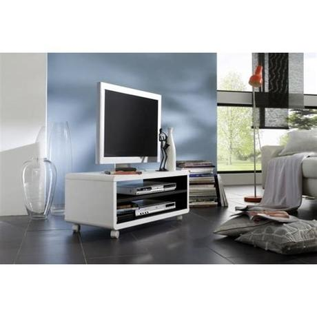 Nothing quite completes your living room like a stylish tv stand. Viola Affordable TV Stand With Wheels in White | MrHousey ...