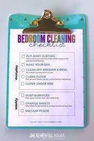 Our cleaning services for a messy kid's room. Free Printable Bedroom Cleaning Checklist For Kids The Incremental Mama
