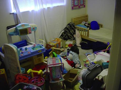 Many plastics car toys in room for children Kids Rooms When Mess Takes Over Life Unstyled
