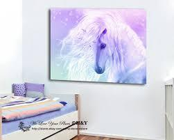 Easy to apply, just peel and stick. Unicorn Stretched Canvas Print Framed Wall Art Kids Room Decor Painting Cartoon Ebay