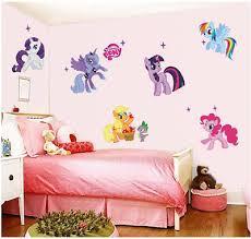 Perfect for mermaid, purple, pink decoration. Cartoon My Little Pony Wall Stickers For Kids Room Decor Anime Animals Unicorn Ebay