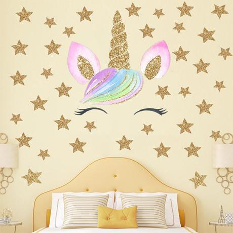 Cartoon Unicorn Animal Wall Stickers For Kids Rooms Girls Rooms Bedroom Decor Unicorn Party Decorations Kids Room Decoration From Qiansuning8 4 04 Dhgate Com