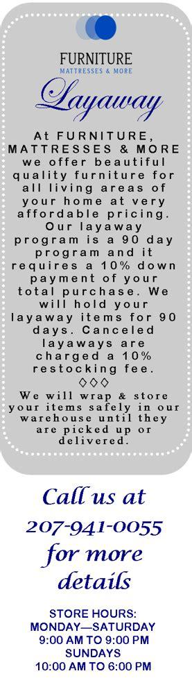 Sears layaway provides the flexibility you need to purchase many products. Layaway | Furniture Mattress & More