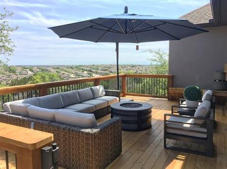 Swivel bar stool shown with cushion set. San Antonio Outdoor Furniture, Patio Furniture, Dining ...