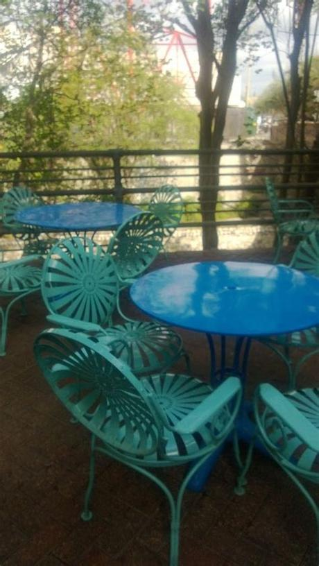 Outdoor furniture options are endless with chairs and seating, tables, benches, outdoor cushions and pillows. For the outdoor patio (from Ocho, San Antonio, TX ...