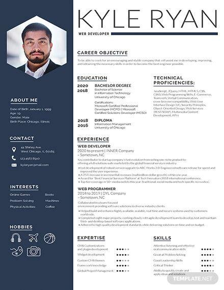 Clean, bold typography is a new trend for 2019. 187+ FREE Resume Templates | Download Ready-Made ...
