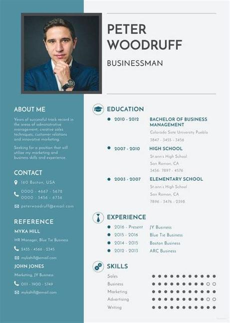 The free resume templates made in word are easily adjusted to your needs and personal situation. Business Resume Template - 11+ Free Word, Excel, PDF ...