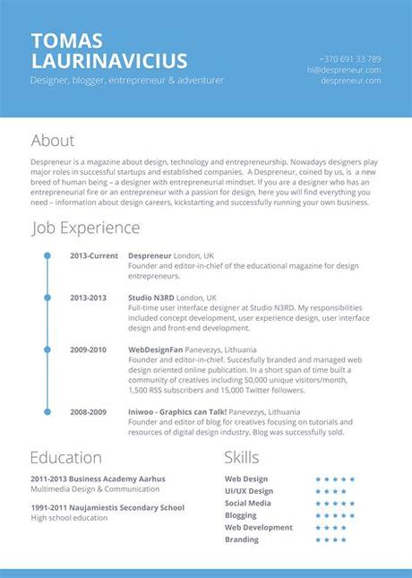 A microsoft word resume template is a tool which is 100% free to download and edit. Free Minimal Resume PSD Template