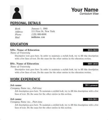 Crafted with great attention to details designed for easy readability and skimming 15+ Latex Resume Templates - PDF, DOC | Free & Premium ...