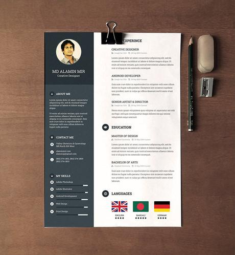 Attractive Resume Templates Free Download - task list ...