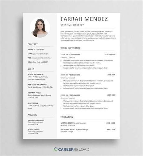 Adobe illustrator resume templates free resume template. Modern Resume Template Free Download ~ Addictionary