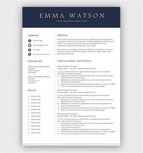 A page full of word resume templates, that you can download directly and start editing! Professional Resume Template | Free Download | Easy-to-edit
