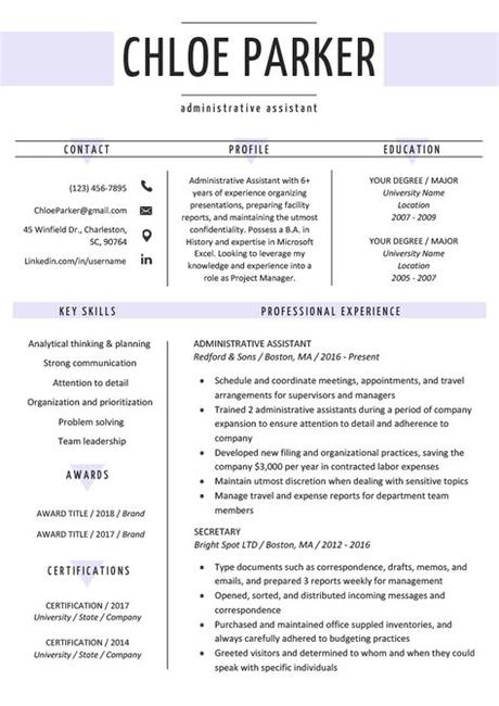 A huge title with your name will drive attention to your cv at once. Free Creative Resume Templates & Downloads | Resume Genius