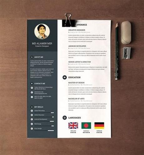 It goes along with the font used in the resume so that you can get the same look with your cv. Creative Resume Templates Free Download For Microsoft Word ...