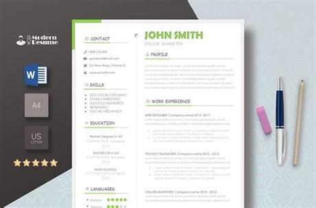 Click resumes and cover letters. Free Template - Modern Resume Templates 2019