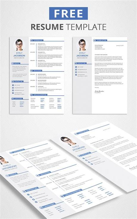 It goes along with the font used in the resume so that you can get the same look with your cv. Free CV Template and Cover Letter - Graphicadi