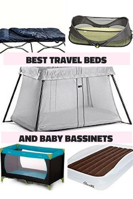 Toddler and kids travel bed air mattress with extra tall safety bumpers Best travel bassinet and best toddler travel bed round up