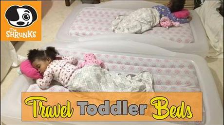 Hiccapop inflatable toddler travel bed with safety bumpers. TWIN TODDLER TIME   TRAVEL TODDLER BEDS - YouTube