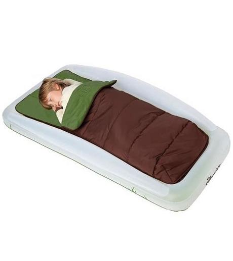 Perhaps you're visiting a relative who has no extra room for your little kid, or your toddler wants to sleep in. The Shrunks Tuckaire Outdoor Toddler Travel Bed