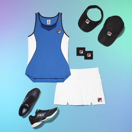 tennis apparel and tennis shoes