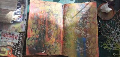 Creating an Art Journal Page - Use up your Supplies