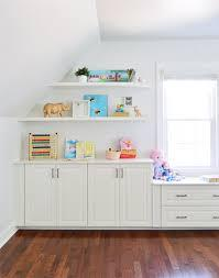 Open shelving adds structure for. Adding Built Ins White Floating Shelves Around A Window Niche Young House Love
