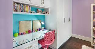 Open shelving adds structure for. 2 Clever Kids Bedroom Built Ins That Maximize Storage Space