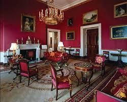 Luncheon is served in the white house's old family dining room. White House Red Room Students Britannica Kids Homework Help