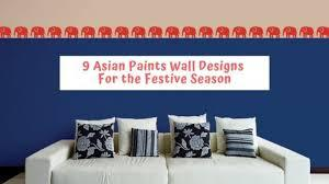 Wall paper 3d home decoration sticker kids stickers self adhesive wallpape solid color pvc room wallpaper decor black bedroom. Which Asian Paints Wall Design Will You Pick This Festive Season The Urban Guide