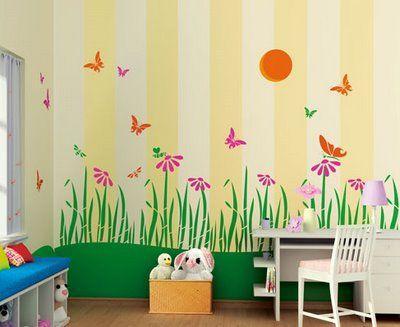 Theme Butterflies Day Kids Bedroom Walls Kids Room Accessories Kid Room Decor