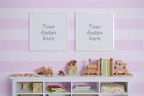 Plus, white really is the perfect blank canvas to display your art on. Kids room square frame mockups ~ Print Mockups ~ Creative ...