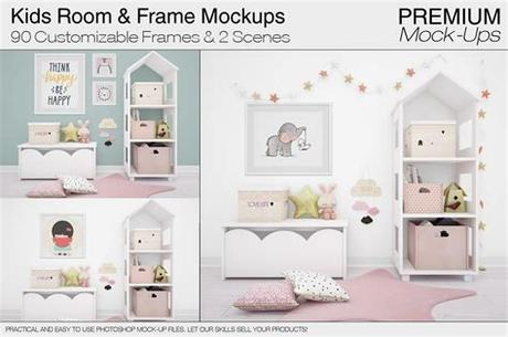 Picture frames have traditionally been made of wood, which is still the most common and most prestigious material, although. Kids Room & Frame Mockups | Creative Photoshop Templates ...