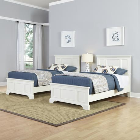 Home Styles Naples Two Twin Beds and Night Stand