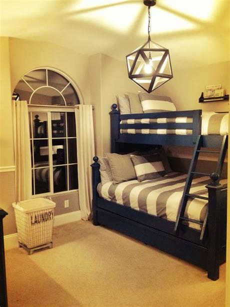 Are you afraid that your guest bedroom with twin beds might look a little young? Boys room - totally what i had in mind for each of the ...