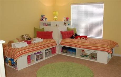 Choose from designs by oeuf, babyletto and blu dot, among others. Contemporary Children Twin Beds with Storage - HomesFeed