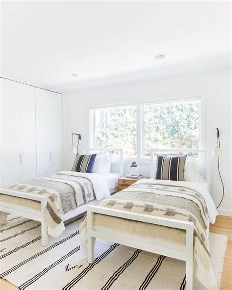 .permanent twin bed rooms or rooms with one queen and two singles or two doubles etc, to save having to change bed configurations on a daily basis. Using Two Twin Beds In A Kids Space! - Juniper Home in ...