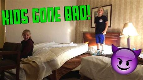 Baby & kids room furniture. KIDS IN HOTEL ROOM! - YouTube