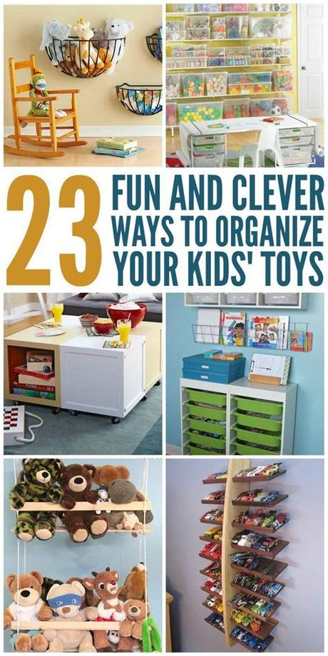 Kids room ideas for boys toddler. 23 Fun and Clever Ways to Organize Toys | How to organize ...