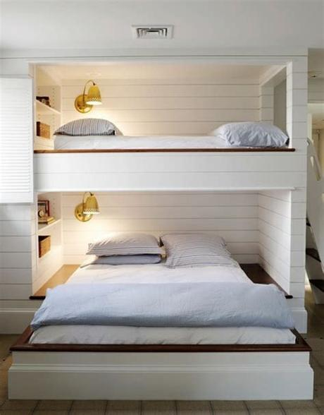 Queen bedroom layouts are recommended planning guidelines for organizing bedrooms based on the dimensions of a queen size bed. Newly Domesticated: Am I Too Old for Bunk Beds?