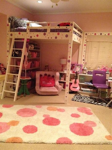 Just as you would buy clothes at least a size larger for your toddler, the same goes for kids beds in our experience. Tween Bedroom with New Queen Size LOFT bed that my husband ...