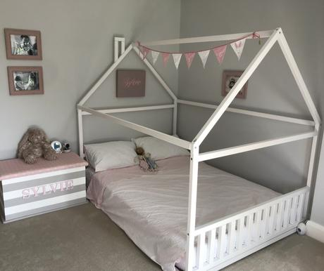 Montessori toddler room wooden bed, FULL or QUEEN size bed ...