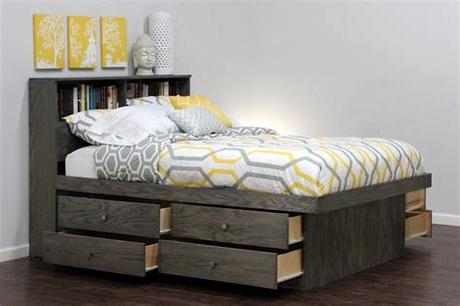 South shore beds can support a weight capacity of 250 lb for a twin size bed and 500 lb for a full, queen and king size bed. Bedroom: Organize Your Room With Queen Headboard With ...
