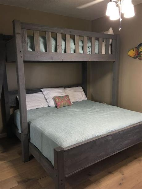 ( 3.7 ) out of 5 stars 3 ratings , based on 3 reviews current price $84.99 $ 84. Custom bunk bed in twin over king or twin over queen. At ...