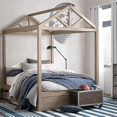 Some houses don't even have a guest room. house bed frame for full-queen sized bed via bestkiddos ...