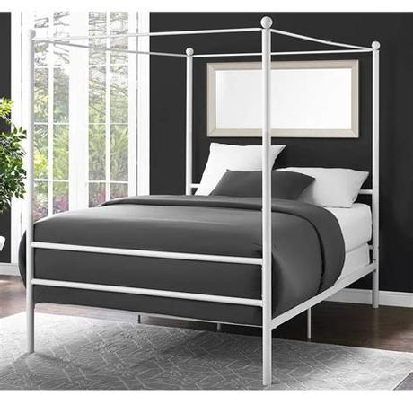 Some houses don't even have a guest room. Details about Canopy Bed Frame Full Size Metal Princess ...