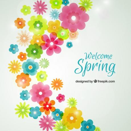 Free Vector Spring Flowers Background