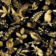 Also for mobile and tablet. Birds Flowers Wallpaper Wallcovering Designs Custom Printed On Demand Interior Ink